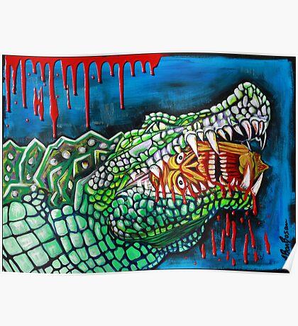 Crocodile Lollipop - Morbid Fantasy Art Poster