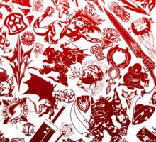 Final Fantasy Moogle-verse (red) Sticker