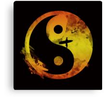 yin yang surfin V1 Canvas Print