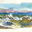 Waves in Koktebel by Kasheva