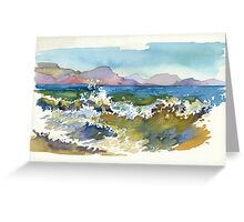 Waves in Koktebel Greeting Card