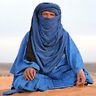 Blue Man Sahara Morocco by Debbie Pinard