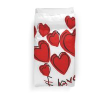 I Love You Greetings With Hearts Duvet Cover