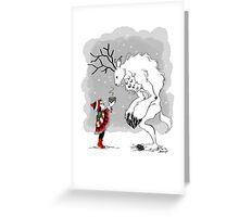 Boy and Yeti Greeting Card