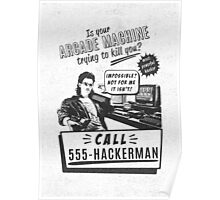 Hackerman arcade machine Poster