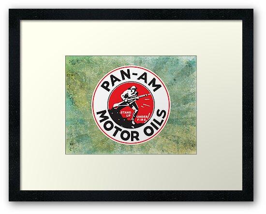 Retro Pan-Am Motor Oils Sign Reproduction by JohnOdz