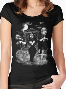 Vampira Plan 9 zombies Women's Fitted Scoop T-Shirt