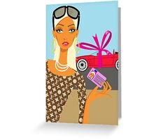 congratulations with your driving licence Greeting Card