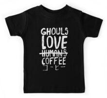 Ghouls love coffee Kids Tee