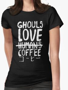 Ghouls love coffee Womens Fitted T-Shirt