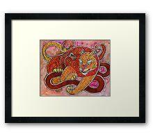 Leopard and Snake Framed Print