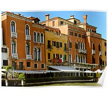 Venice restaurants on the canal Poster