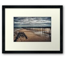 Queens Pier and the Winter Coastline Framed Print