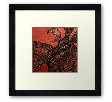 Hare Brained Framed Print