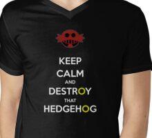 Keep Calm Robotnik Mens V-Neck T-Shirt