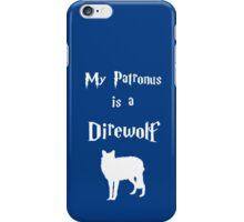 My Patronus is a Direwolf iPhone Case/Skin