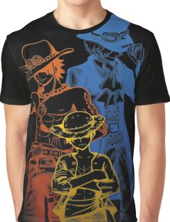 One Piece Brothers - colored lineart Graphic T-Shirt