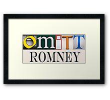 Omitt Romney Framed Print