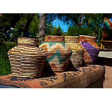 woven baskets Photographic Print