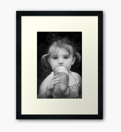 Sip Stealer Framed Print