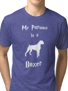 My Patronus is a Boxer (Different Layout) Tri-blend T-Shirt