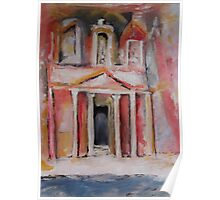 The Treasury, Petra, Oil Painting Poster