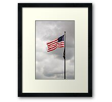 ...our flag was still there... Framed Print