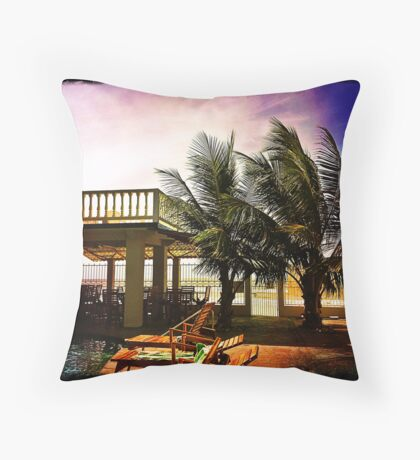 Diving Pelican Inn - La Cieba, Honduras Throw Pillow