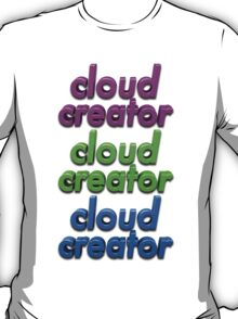 Triple Colour Cloud Creator. T-Shirt