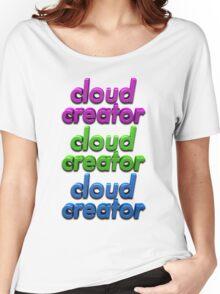 Triple Colour Cloud Creator. Women's Relaxed Fit T-Shirt