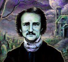Edgar Allan Poe Gothic Sticker