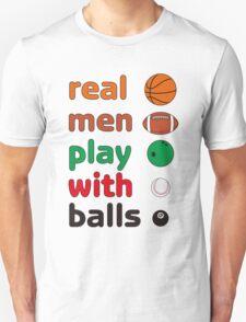 Funny REAL MEN T-shirt T-Shirt