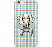 Weimaraner Pale Plaid iPhone Case/Skin
