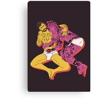Tattoo Guy and His Flower Boy Canvas Print