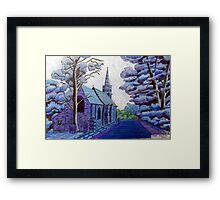 350 - BEADNELL BLUE - DAVE EDWARDS - COLOURED PENCILS & INK - 2012 Framed Print
