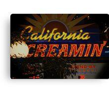 California Creamin'? Canvas Print