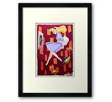 Falling Down the Rabbit Hole Framed Print