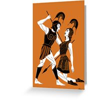 The Tragic Tale of Achilles and Penthesilea Greeting Card