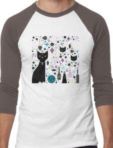 Halloween Kittens  Men's Baseball ¾ T-Shirt