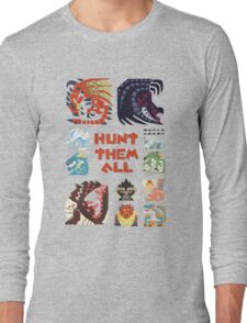MONSTER HUNTER 4 - HUNT THEM ALL Long Sleeve T-Shirt