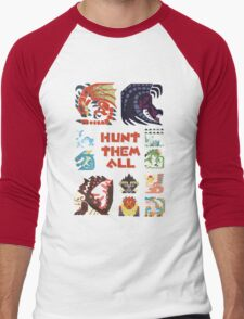 MONSTER HUNTER 4 - HUNT THEM ALL Men's Baseball ¾ T-Shirt