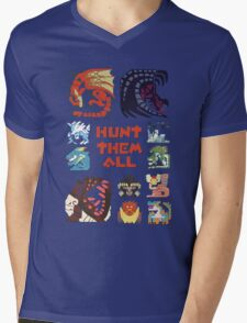 MONSTER HUNTER 4 - HUNT THEM ALL Mens V-Neck T-Shirt