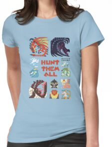 MONSTER HUNTER 4 - HUNT THEM ALL Womens Fitted T-Shirt