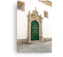 Capela das Malheiras side door Canvas Print
