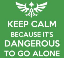 Keep Calm Because it's Dangerous to Go Alone Kids Clothes
