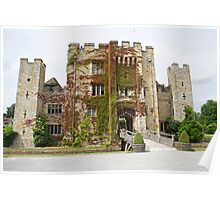 Hever castle from the front. Poster
