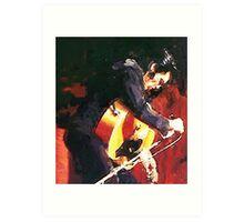 Elvis On Stage 69 Art Print