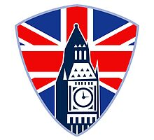 Big Ben British Flag Shield by patrimonio