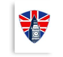Big Ben British Flag Shield Canvas Print