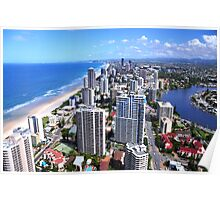 Gold Coast view from Q1 Tower Poster